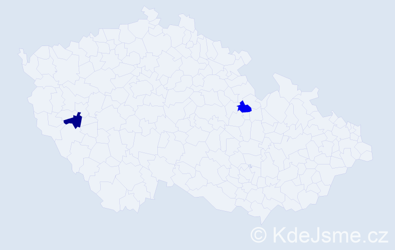 Jméno: 'Radim Karel', počet výskytů 2 v celé ČR