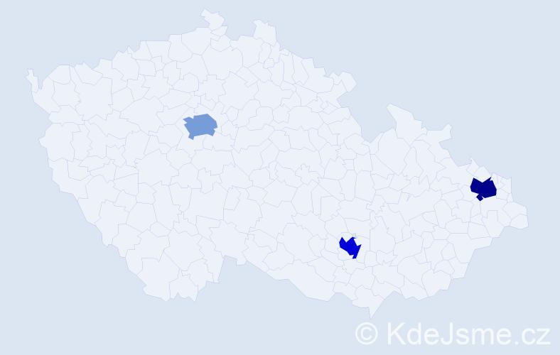 Jméno: 'Quoc Thang', počet výskytů 3 v celé ČR