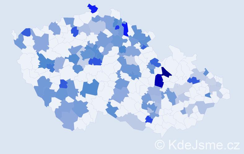 Jméno: 'Janek', počet výskytů 182 v celé ČR