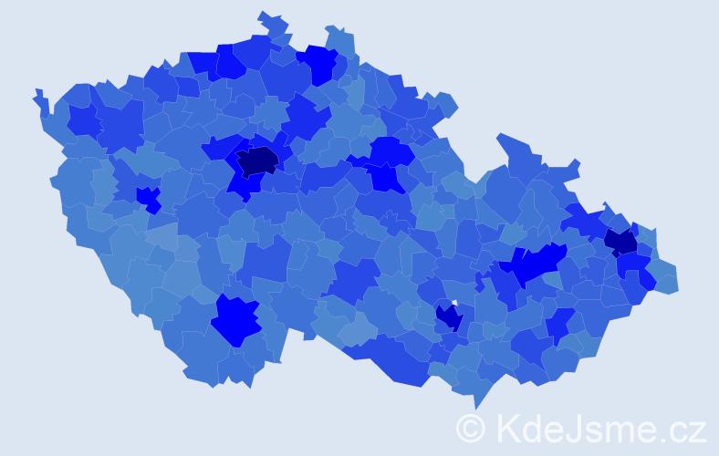 Jméno: 'Petr', počet výskytů 272833 v celé ČR