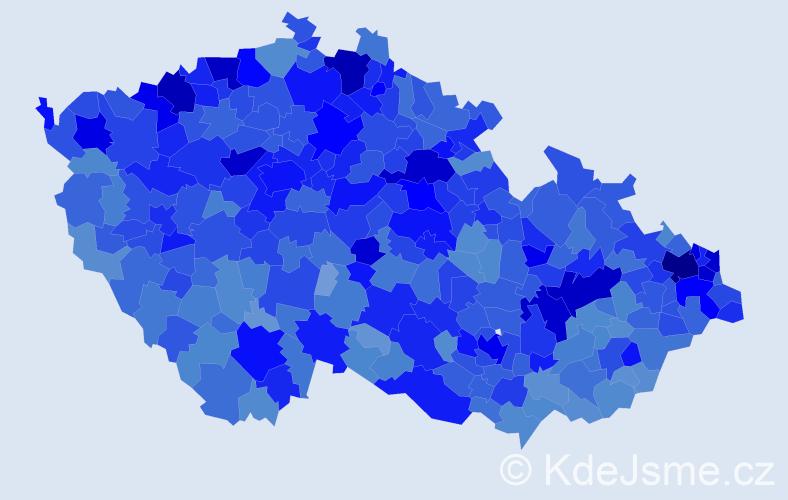 Jméno: 'Iveta', počet výskytů 36461 v celé ČR