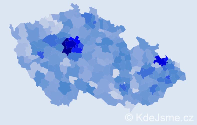 Jméno: 'Jonáš', počet výskytů 5245 v celé ČR