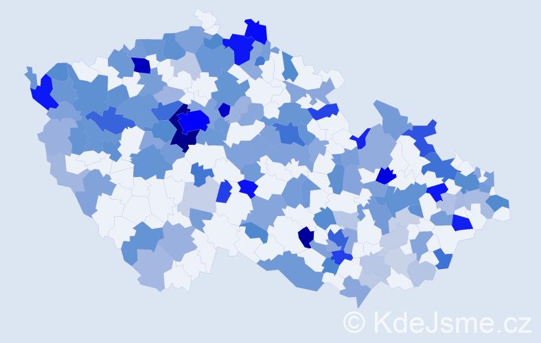 Jméno: 'Sophia', počet výskytů 407 v celé ČR