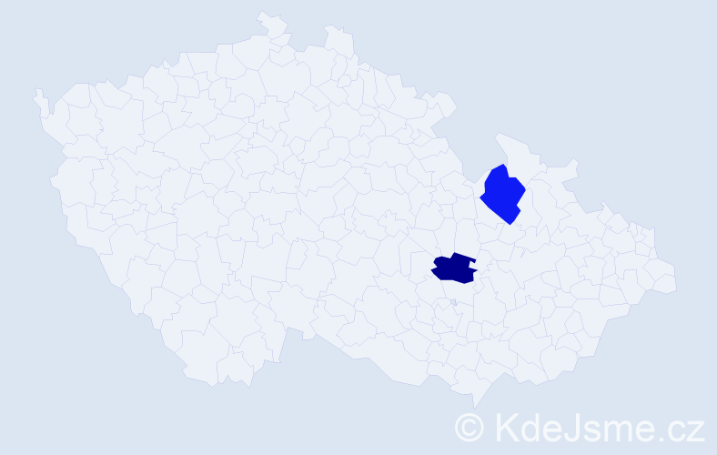 Jméno: 'Štěpán Pavel', počet výskytů 2 v celé ČR