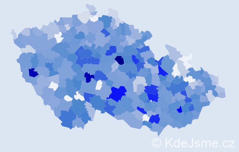 Jméno: 'Justýna', počet výskytů 1711 v celé ČR