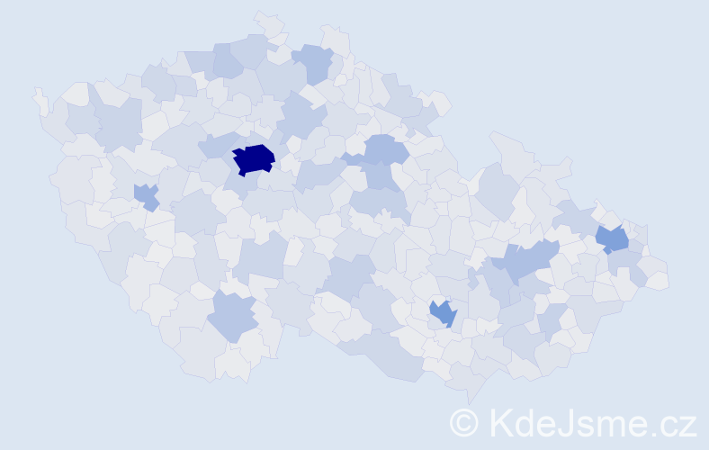 Jméno: 'Věra', počet výskytů 116855 v celé ČR