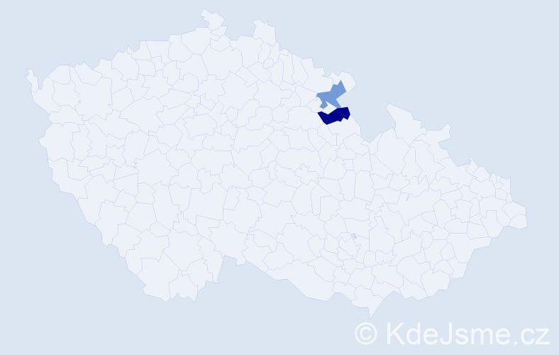 Jméno: 'Ehrentraut', počet výskytů 2 v celé ČR
