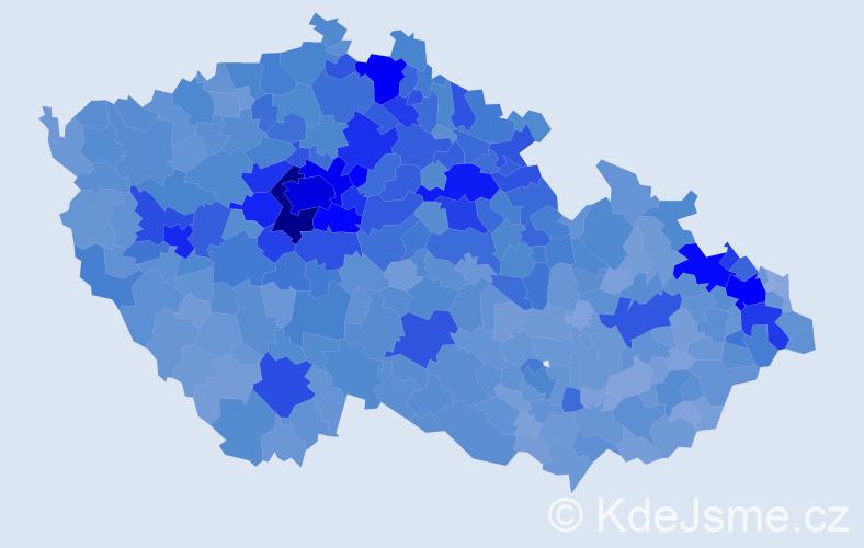 Jméno: 'Matěj', počet výskytů 38519 v celé ČR