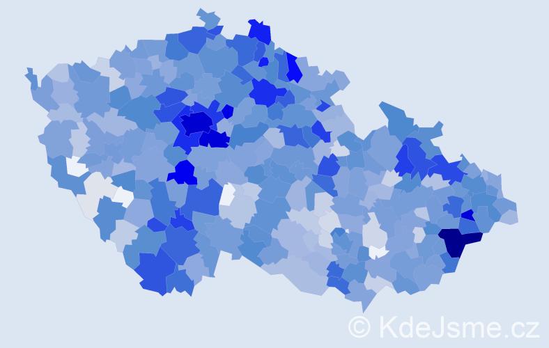 Jméno: 'Rozálie', počet výskytů 2016 v celé ČR
