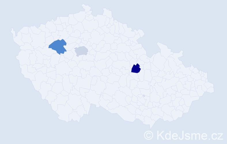 Jméno: 'Luc', počet výskytů 4 v celé ČR