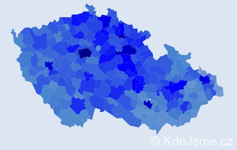 Jméno: 'Věra', počet výskytů 114330 v celé ČR