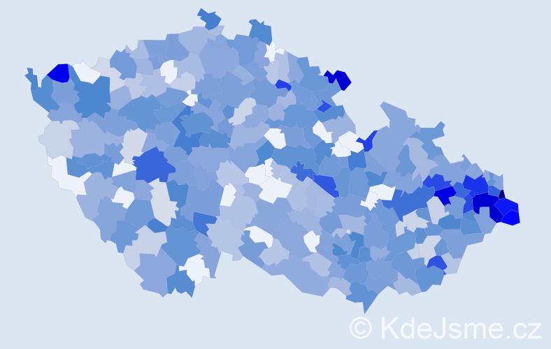 Jméno: 'Damián', počet výskytů 941 v celé ČR