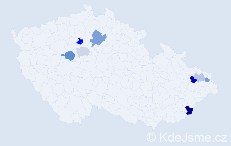 Jméno: 'Šimon Pavel', počet výskytů 9 v celé ČR