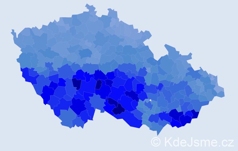 Jméno: 'Marie', počet výskytů 288950 v celé ČR