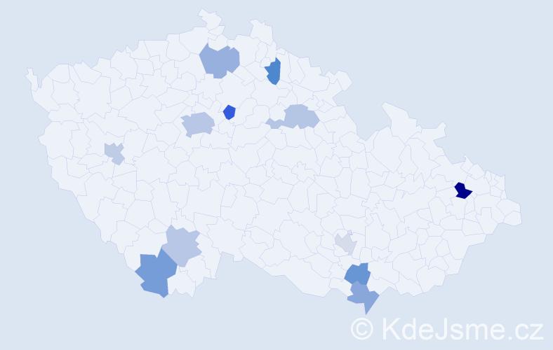 Jméno: 'Meda', počet výskytů 18 v celé ČR