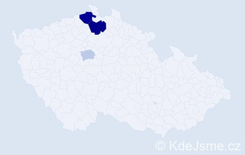 Jméno: 'Viktor Václav', počet výskytů 3 v celé ČR
