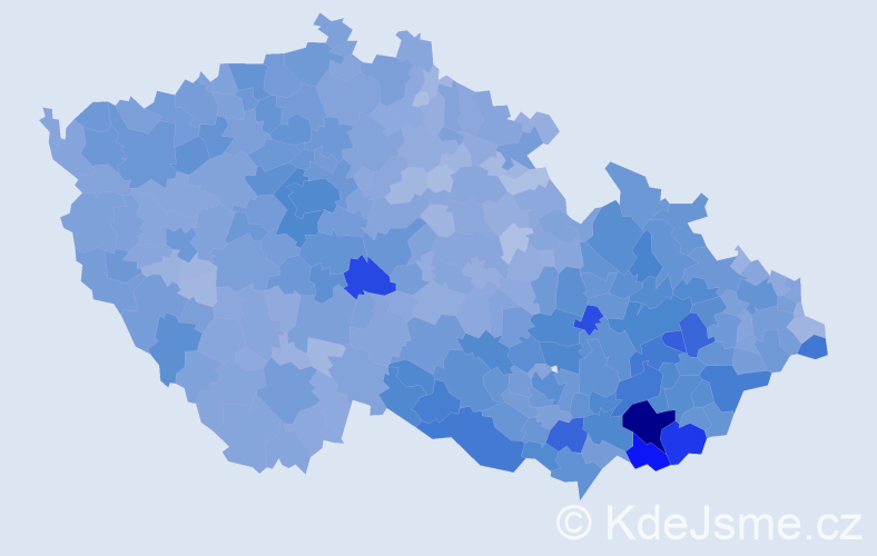Jméno: 'Antonín', počet výskytů 56345 v celé ČR