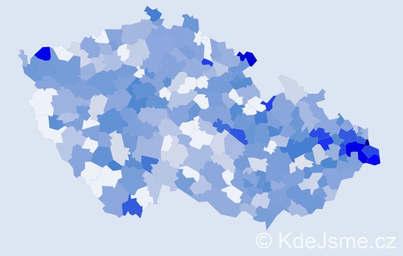 Jméno: 'Damián', počet výskytů 818 v celé ČR