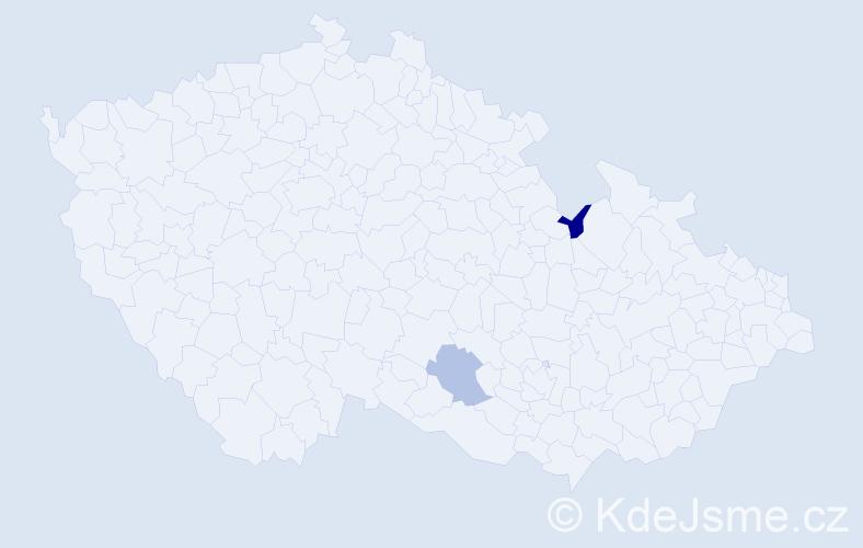 Jméno: 'Šimon Joshua', počet výskytů 2 v celé ČR