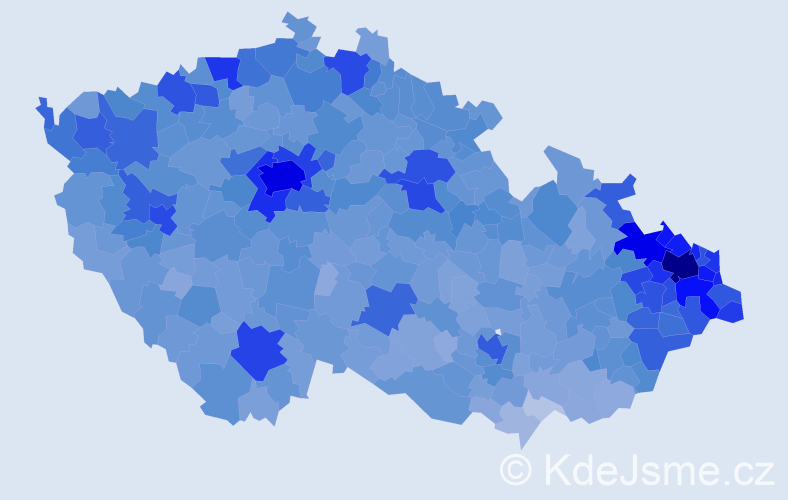 Jméno: 'Daniel', počet výskytů 60935 v celé ČR