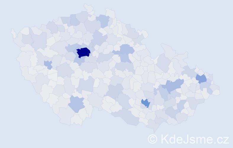 Jméno: 'Michal', počet výskytů 121405 v celé ČR
