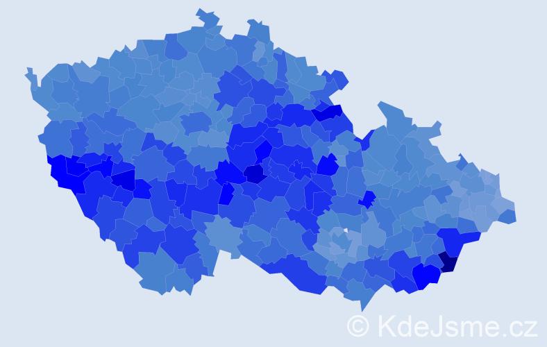 Jméno: 'Josef', počet výskytů 246810 v celé ČR