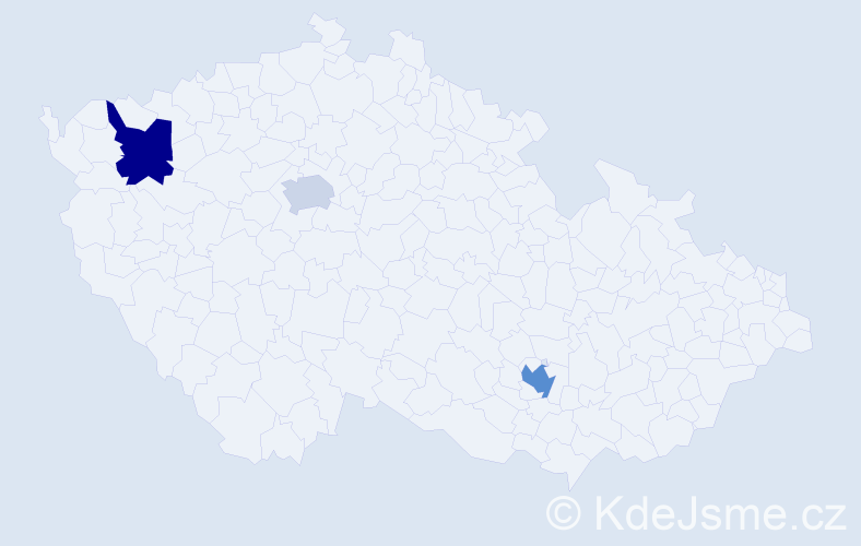 Jméno: 'Galit', počet výskytů 9 v celé ČR