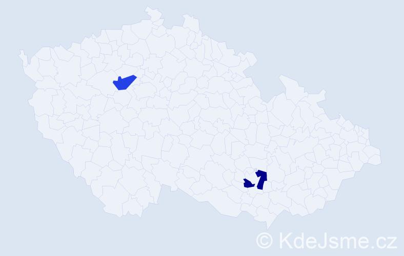 Jméno: 'Štěpán Otakar', počet výskytů 2 v celé ČR