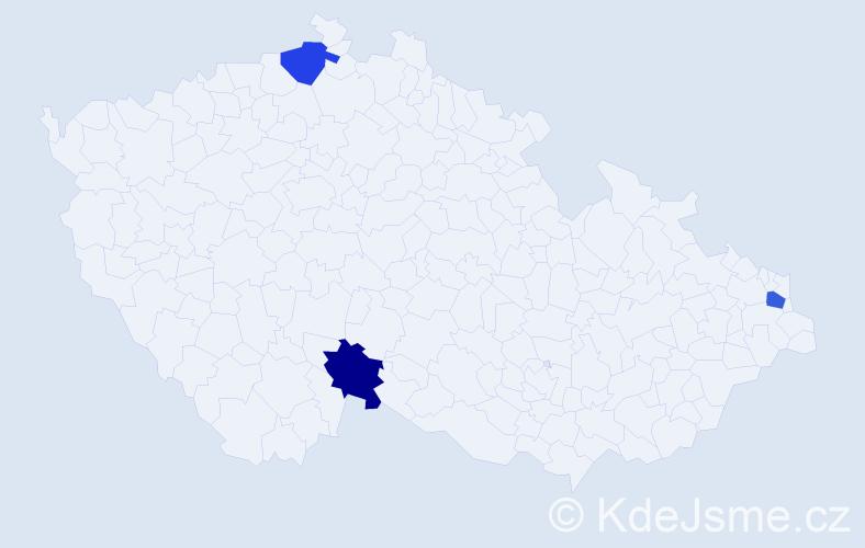 Jméno: 'Šárka Věra', počet výskytů 3 v celé ČR