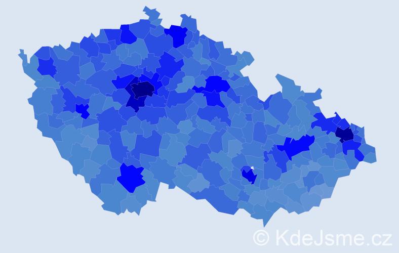 Jméno: 'Lucie', počet výskytů 107295 v celé ČR