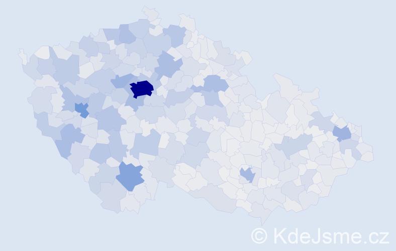 Jméno: 'Václav', počet výskytů 123927 v celé ČR