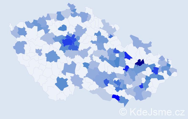 Jméno: 'Lara', počet výskytů 244 v celé ČR