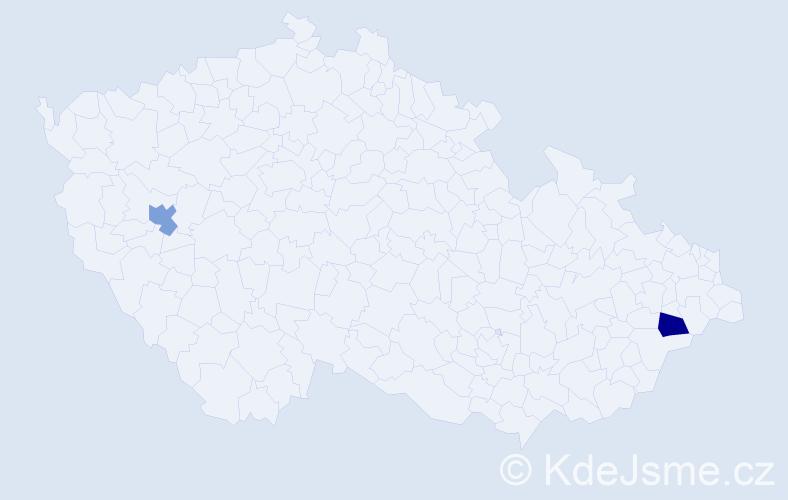 Jméno: 'Vít Antonín', počet výskytů 2 v celé ČR