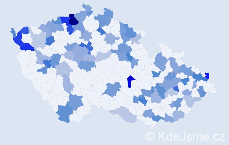 Jméno: 'Melissa', počet výskytů 198 v celé ČR