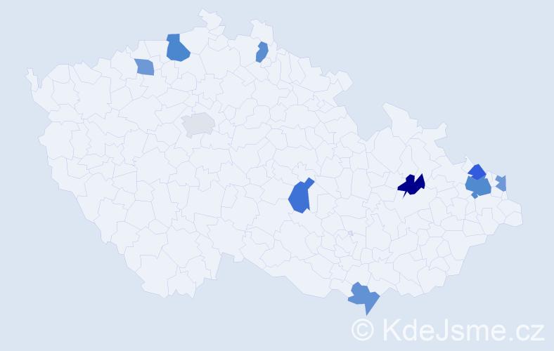 Jméno: 'Šanel', počet výskytů 14 v celé ČR