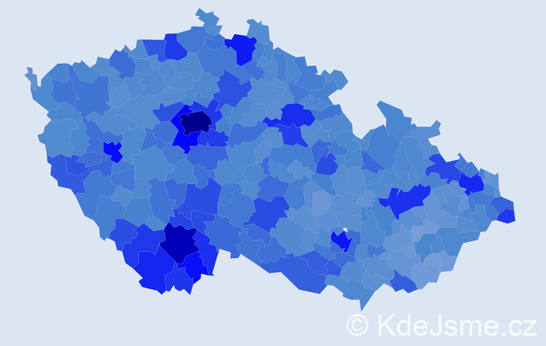 Jméno: 'Jan', počet výskytů 294737 v celé ČR