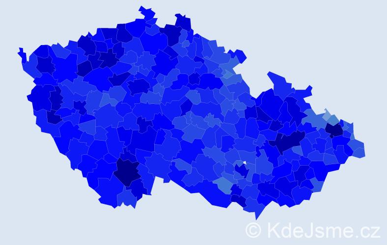 Jméno: 'Miroslav', počet výskytů 147753 v celé ČR