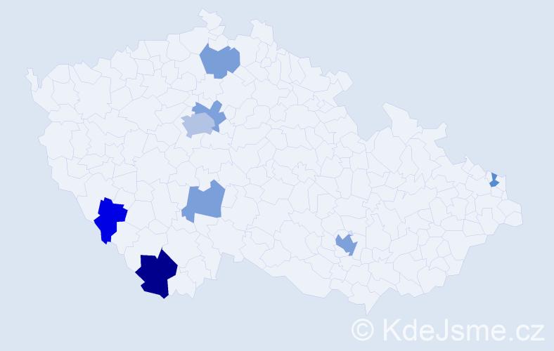Jméno: 'Carola', počet výskytů 14 v celé ČR