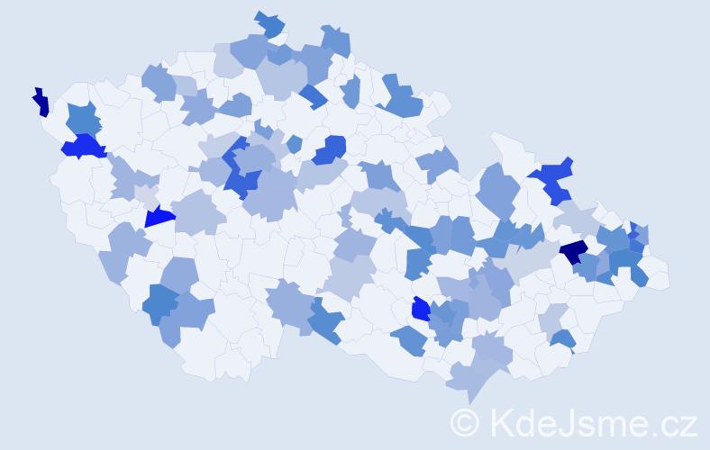 Jméno: 'Damien', počet výskytů 146 v celé ČR
