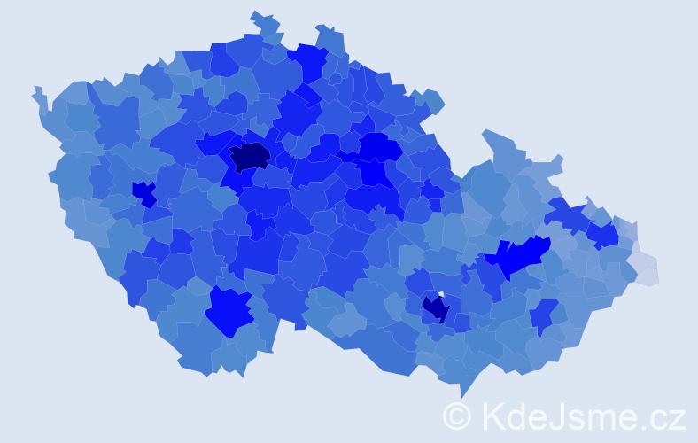 Jméno: 'Hana', počet výskytů 147485 v celé ČR