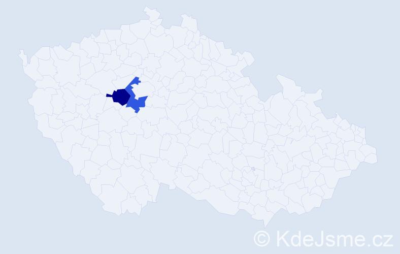 Jméno: 'Gilberto', počet výskytů 2 v celé ČR