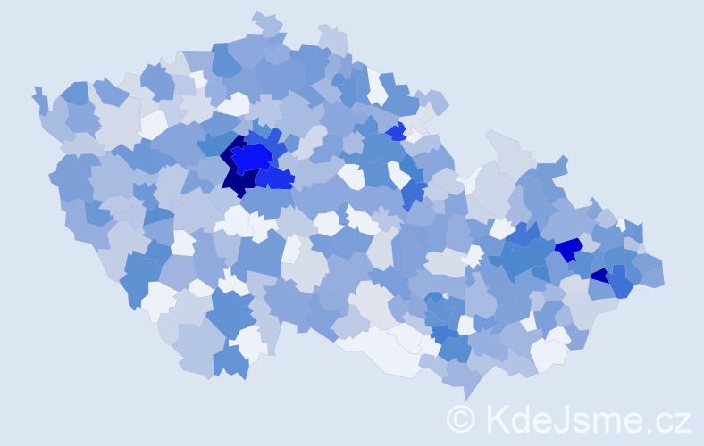 Jméno: 'Amélie', počet výskytů 989 v celé ČR