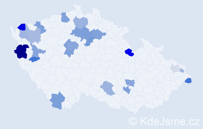 Jméno: 'Georgij', počet výskytů 44 v celé ČR