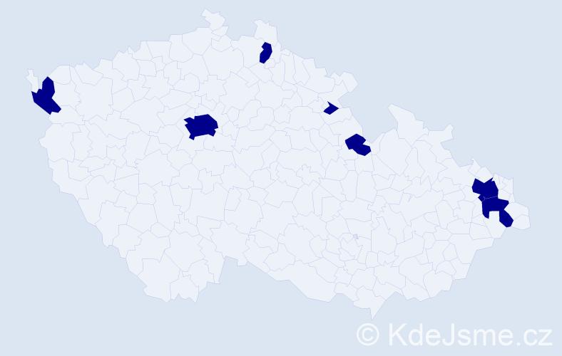 Jméno: 'Štěpán Jiří', počet výskytů 7 v celé ČR