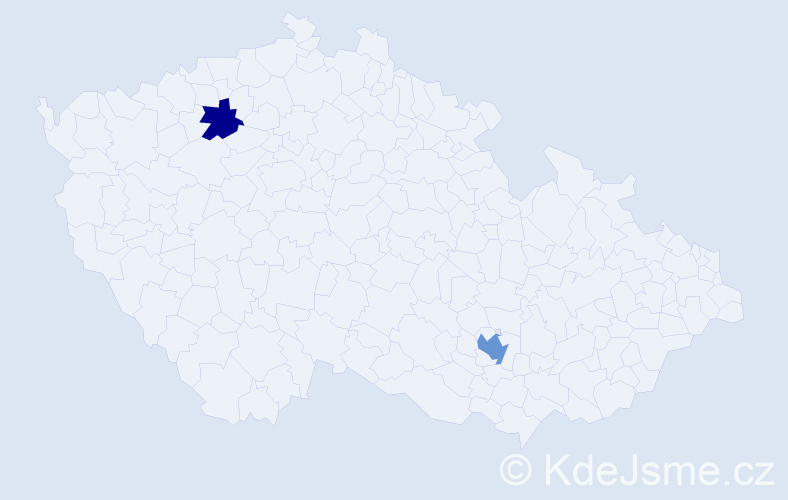 Jméno: 'Gill', počet výskytů 3 v celé ČR