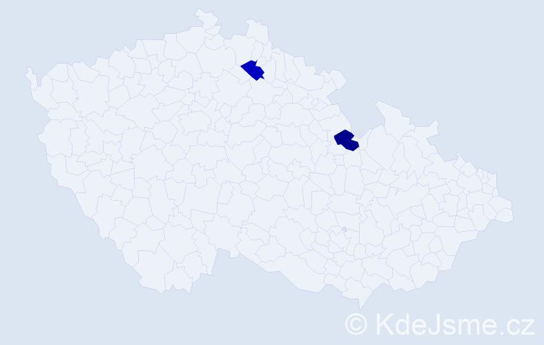 Jméno: 'Šarlota Silvie', počet výskytů 2 v celé ČR