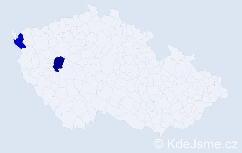 Jméno: 'Šimon Jáchym', počet výskytů 2 v celé ČR