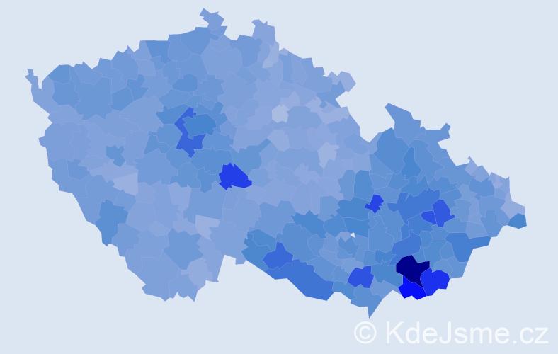 Jméno: 'Antonín', počet výskytů 53794 v celé ČR
