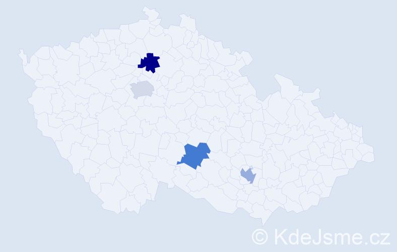 Jméno: 'Ondřej Adam', počet výskytů 4 v celé ČR