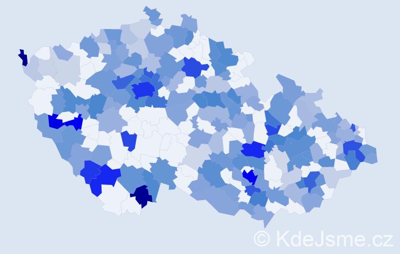 Jméno: 'Sebastien', počet výskytů 439 v celé ČR
